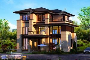 3款中式别墅三层设计案例,农村土豪的专属别墅。