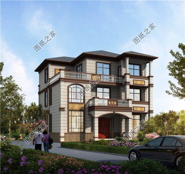 大气三层别墅设计图纸,喜欢的朋友,拿去建房吧。