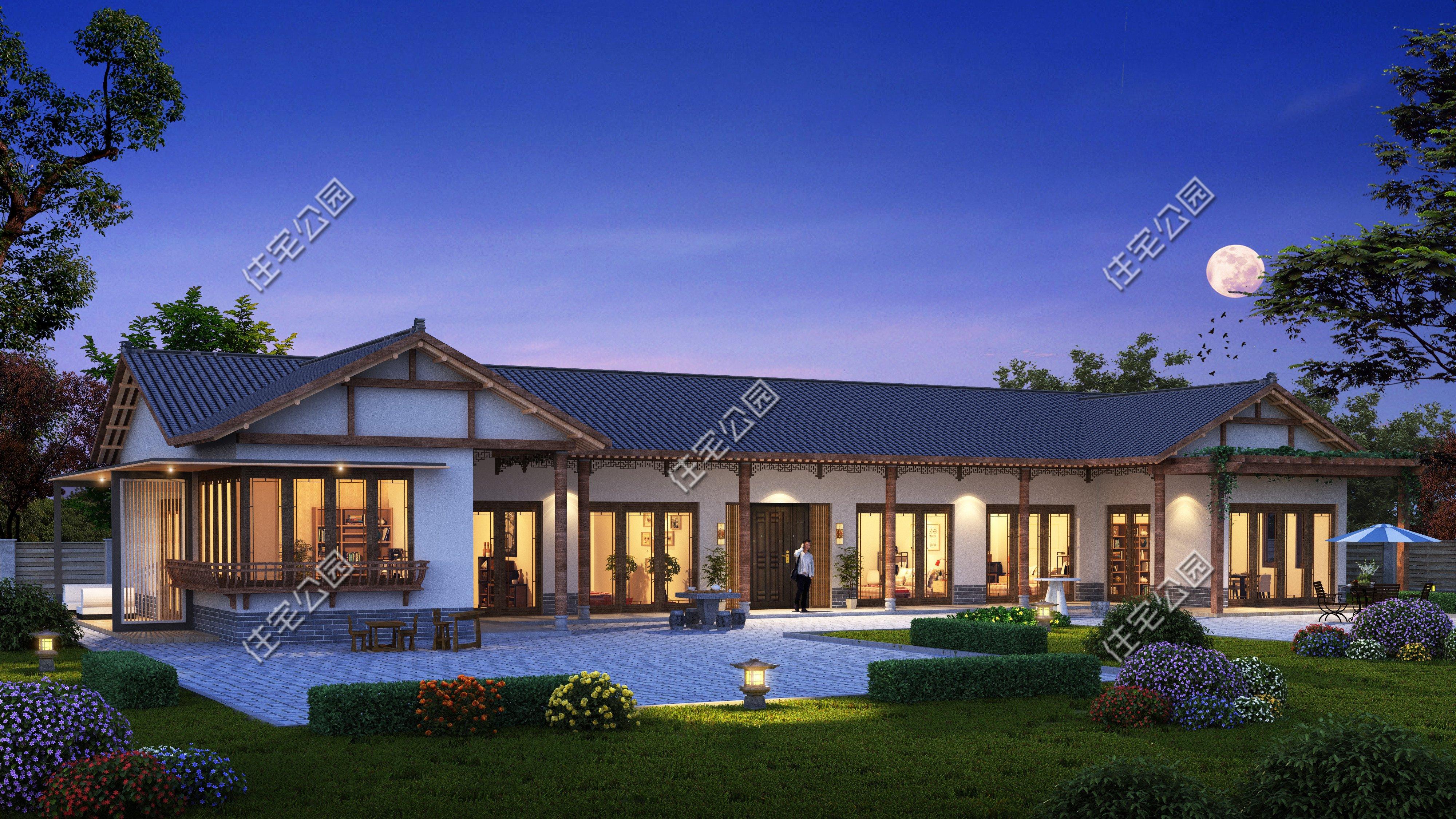 8套农村房屋设计效果图,堂屋+土灶,生活才更有味道。