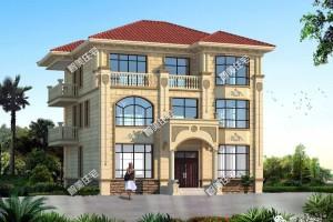 宽12米三层别墅设计图纸,每个卧室内的配置都很齐全。