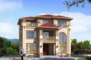 漂亮气派的欧式别墅效果图,建一栋提高生活质量。