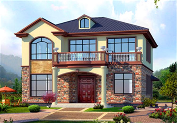 农村二层20万自建房图,时尚美观,造价这么低的别墅你喜欢吗