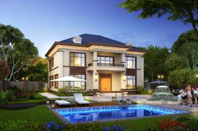 网红款两层别墅设计图,时尚简单,户型布局实用