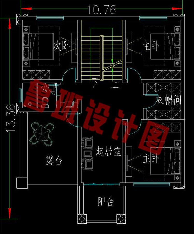 二层欧式别墅设计图二层平面图