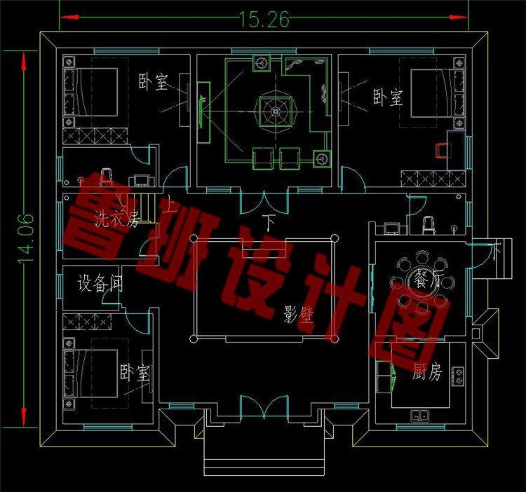 中国最美建筑四合院一层平面图
