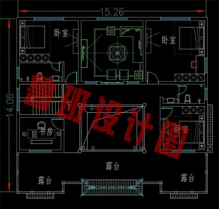 中国最美建筑四合院二层平面图