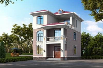 小宅基地必看,90平米新农村自建三层房屋施工设计图
