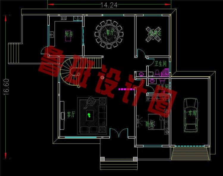 巴洛克别墅设计一层平面图