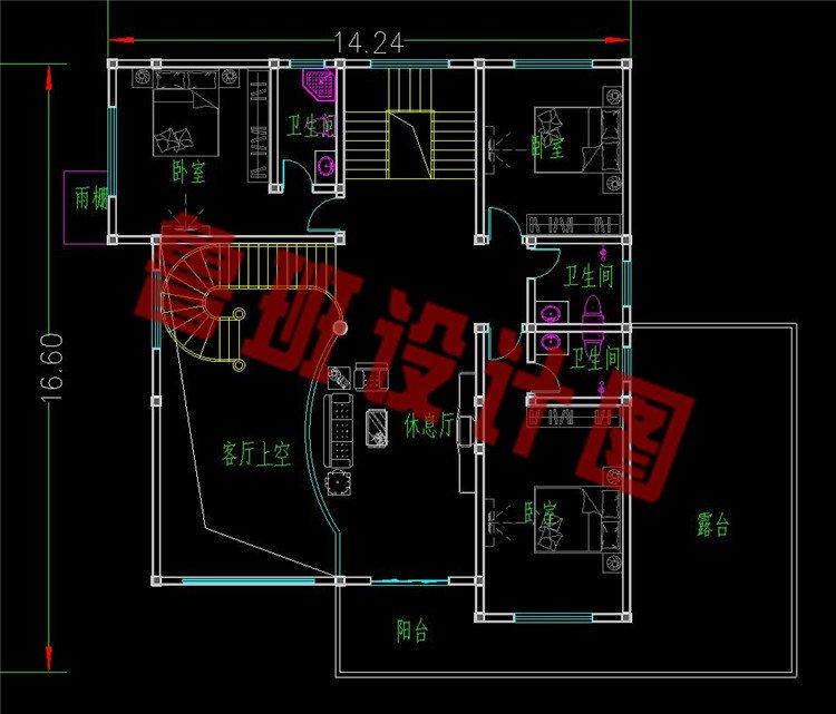 巴洛克别墅设计二层平面图