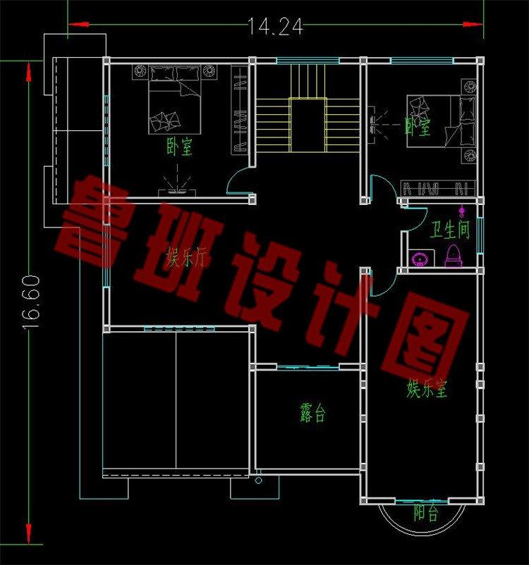 巴洛克别墅设计三层平面图