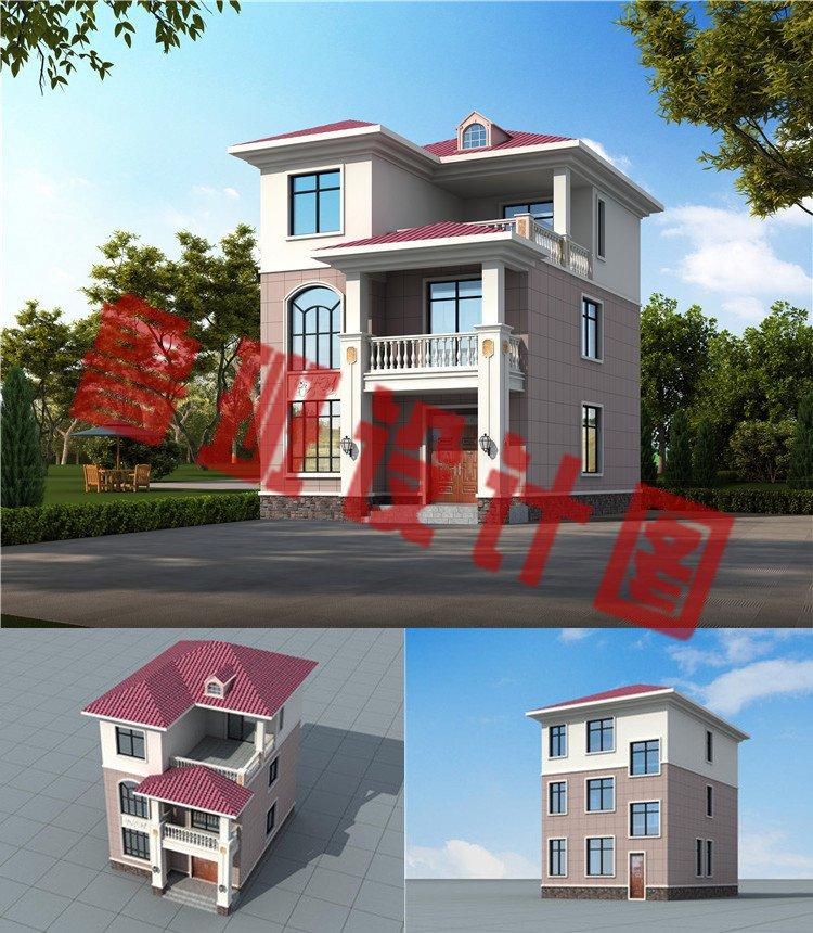 90来平新农村自建三层房屋效果图
