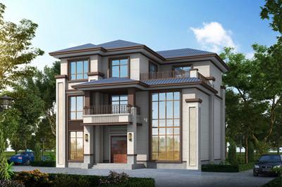 带堂屋三层中式农村别墅效果图及全套设计图,150平左右