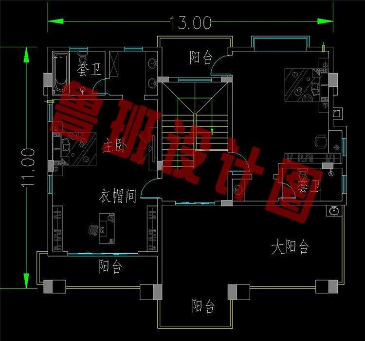 新中式三层美宅三层平面图