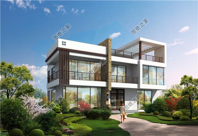 现代风的农村别墅图,2021刚刚出炉的设计款,收藏后回家建吧