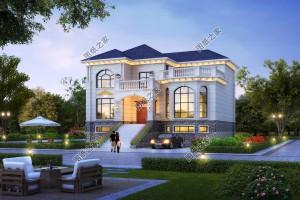 农村自建二层别墅设计图,三款简单实用造价低给你一个温馨的家