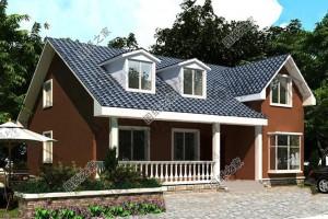 备受好评的别墅设计图,占地130平方米,农村最讨喜的款式