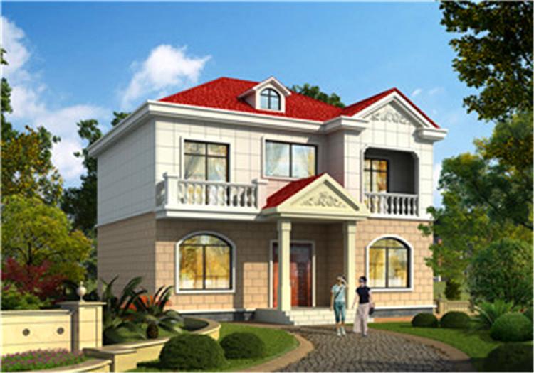 农村二楼带阳台设计图,大落地窗和阳台设计,盖完邻居羡慕了