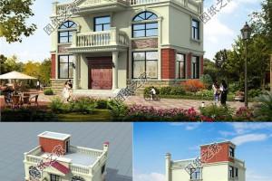 三款占地一百平左右农村别墅图片分享,建出漂亮的别墅不成问题