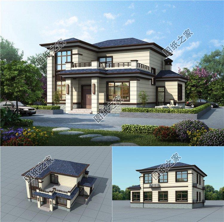 农村两层新中式自建房设计图,实用省钱非常划算