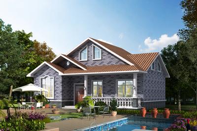 100平米左右带阁楼一层房屋设计施工图,13X9米时尚大方