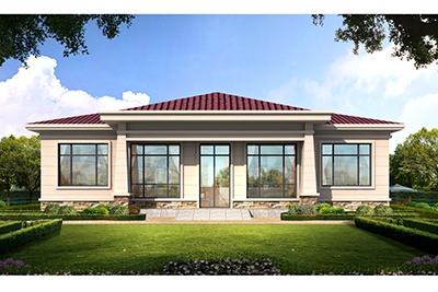 15万起建的一层别墅设计图纸,外观漂亮大气