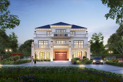 带电梯的三层欧式别墅设计图,开间16米,建一栋赚足面子