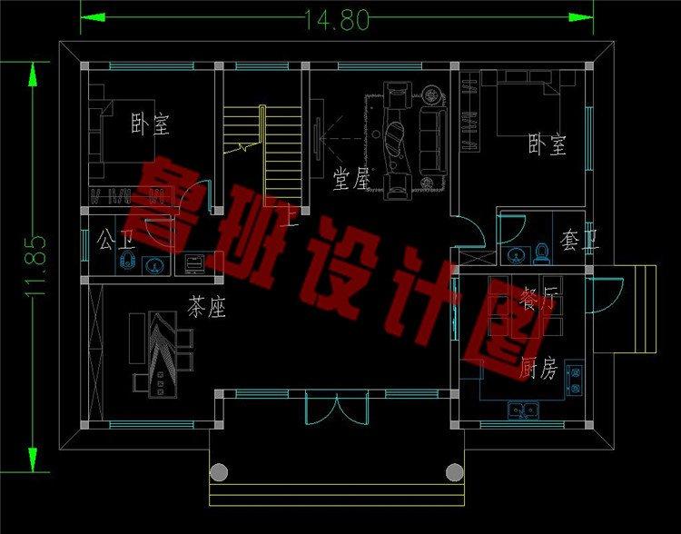 平屋顶二层半澳门新萄京9820app下载一层平面图