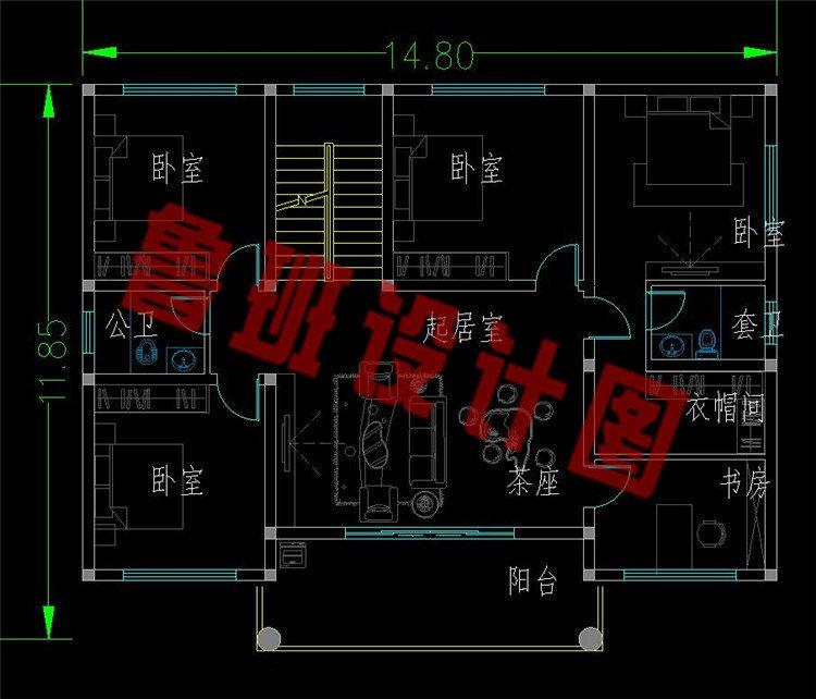 平屋顶二层半澳门新萄京9820app下载二层平面图