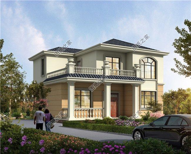 开间10米左右的二层自建房,传统与现代融合,你喜欢哪个?