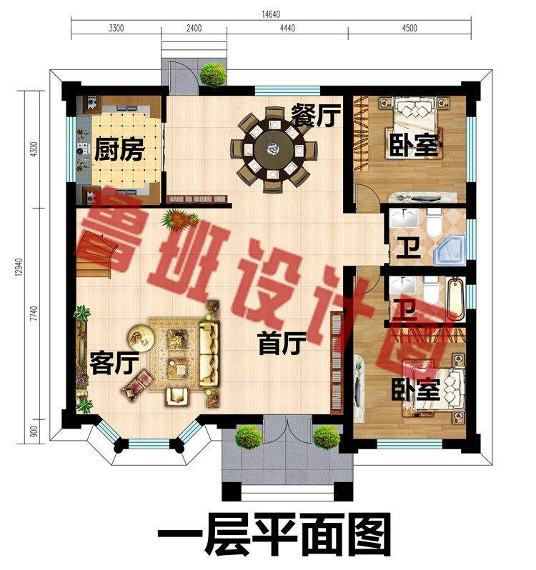 欧式二层别墅设计施工图