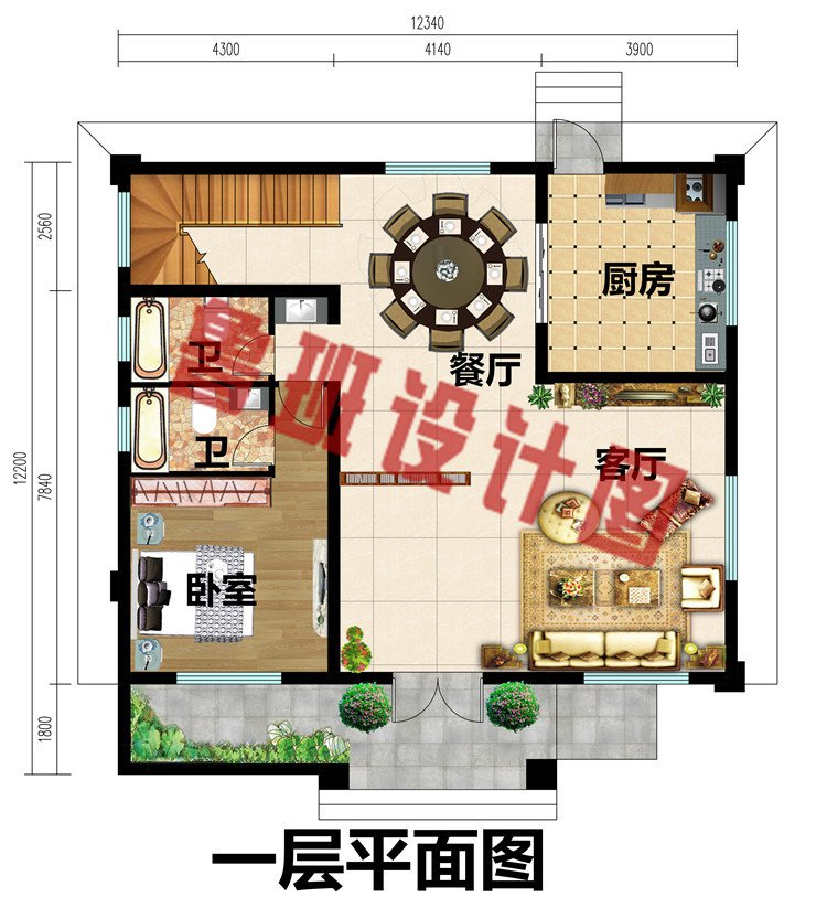 经济实用二层房屋设计