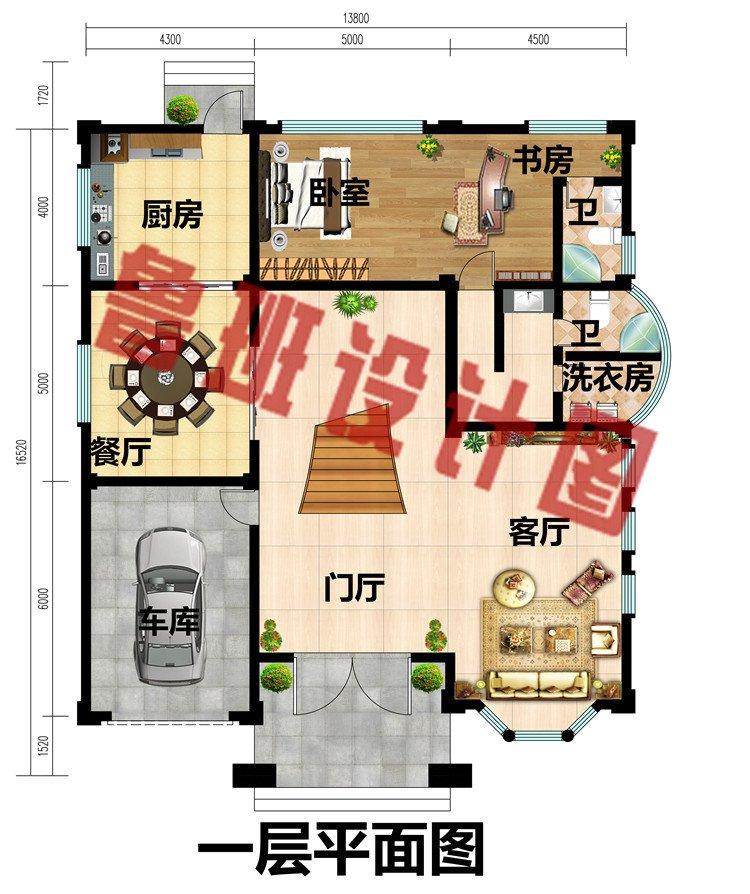 四层复式豪华欧式别墅