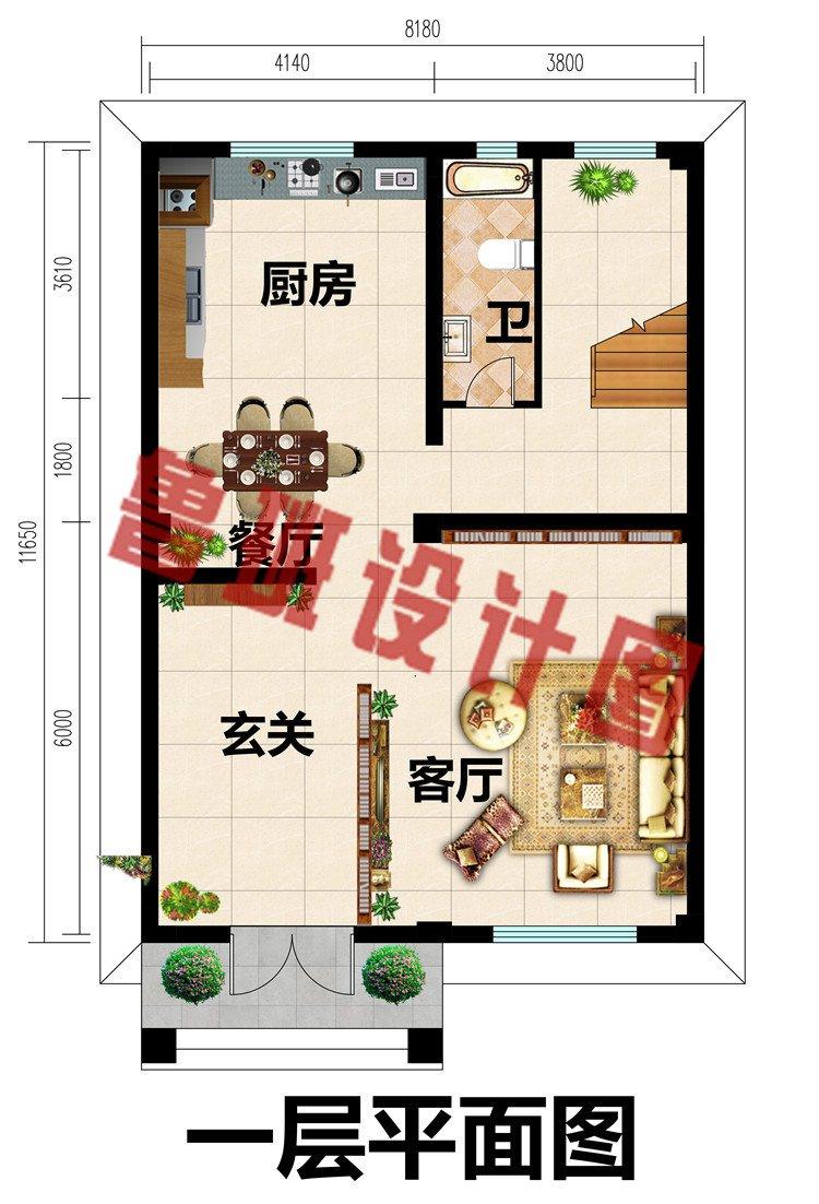 小户型四层自建房别墅