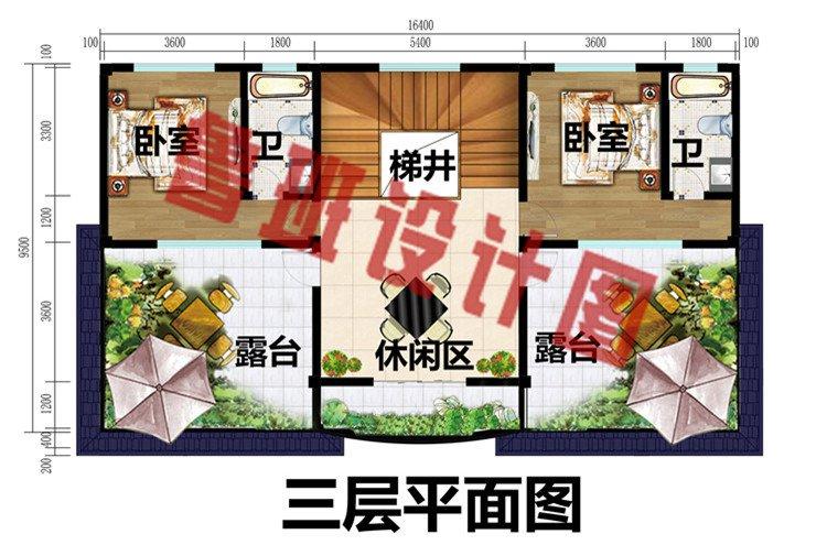 三层别墅楼房设计图